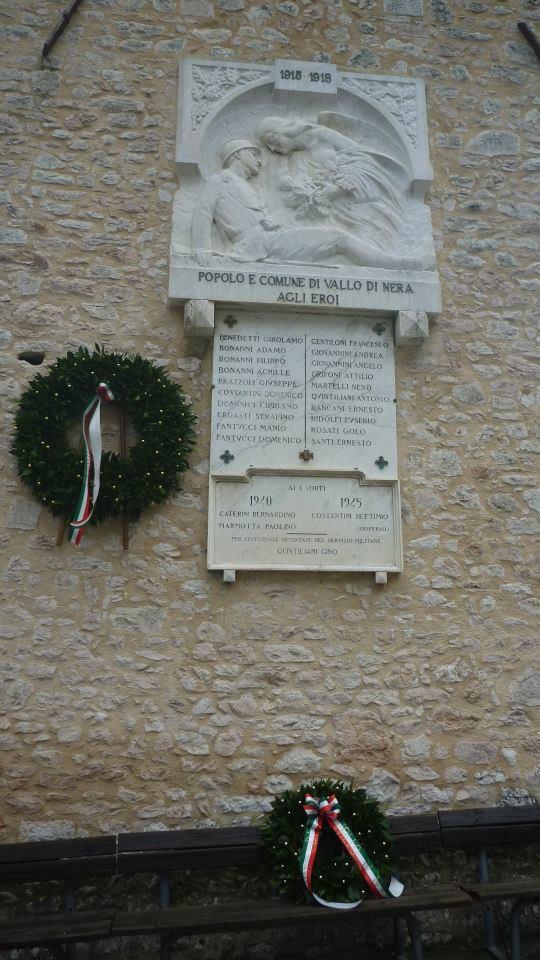 Lapide di commemorazione dei Caduti