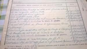 Copia del foglio matricolare di Pietro Giovannetti Foto dell'alunno Flavio Bonanno