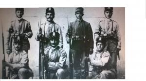 Foto ricordo di Pietro Giovannetti, in piedi terzo da sinistra. Foto dell'alunno Flavio Bonanno