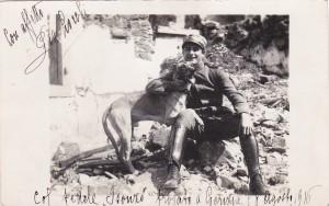 Vittorio Locchi e il suo cane Isonzo
